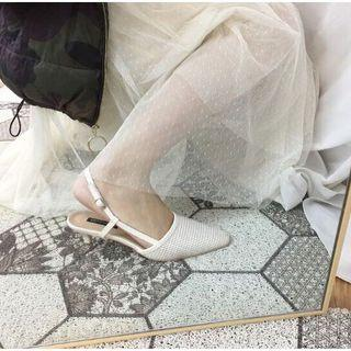 歐膩編織細跟鞋