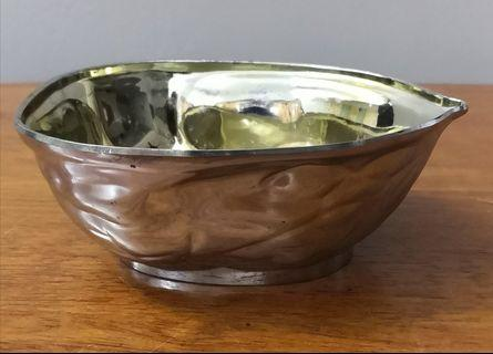 silver plated brass bowl