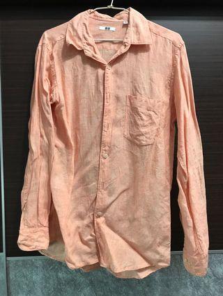 #五折清衣櫃 Uniqolo亞麻襯衫