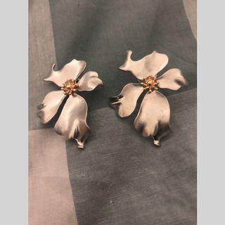 Anting Bunga Silver