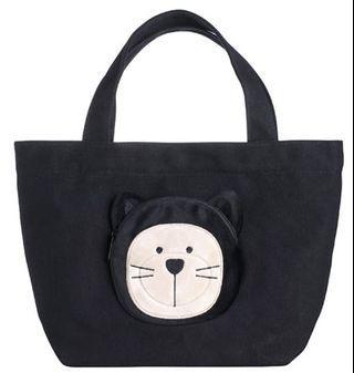 [星巴克]黑貓小熊萬用提袋