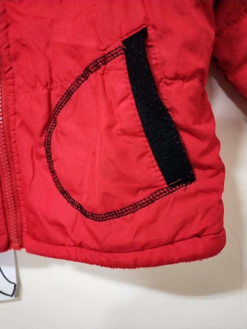 二手紅色純棉刷毛厚外套裝100cm