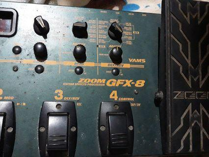 zoom gfx-8 guitar effects processor ..no power