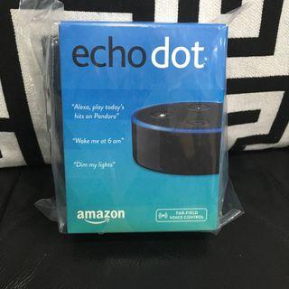 (全新現貨) amazon 亞馬遜智慧音箱 echo dot 第二代-黑色款