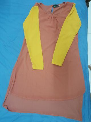 New Mustard-Brown Blouse