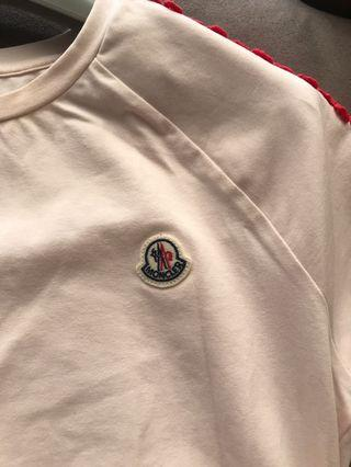 Moncler 粉色蕾絲T-Shirt (14T-大童版)