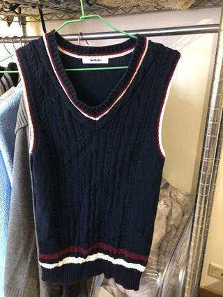 #5折清衣櫃-Matsumi 針織學院風背心,原價1480