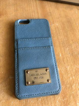 Michael kors mk 手機殼 卡夾天空藍iphone6 i6