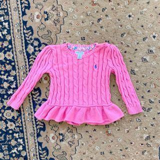 Ralph Lauren Peplum Knitted Top