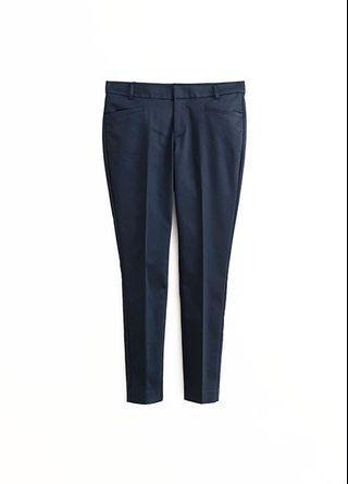 Net slim fit 九分修身長褲 西裝褲深藍 黑 40號 l xl 面試上班ol