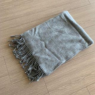 Lowrys Farm 灰色流蘇 極簡百搭 圍巾 披肩 #五折清衣櫃