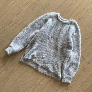 Heather 細緻光澤感 寶貝藍針織毛衣 袖口瑕疵 #五折清衣櫃