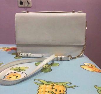 tas charles & keith sling bag putih ORIGINAL
