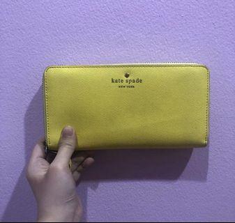 Kate Spade Wallet dompet kuning ORIGINAL