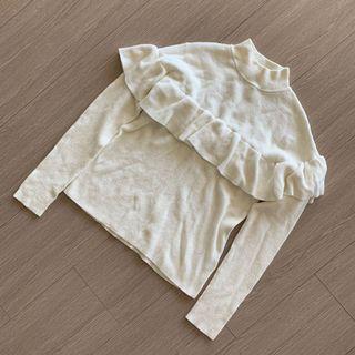 Lowrys Farm 荷葉滾邊 設計款針織上衣 #五折清衣櫃