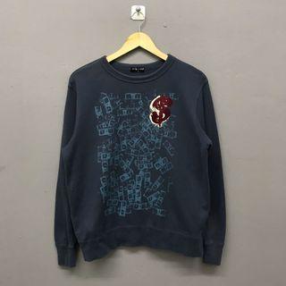 Andy Warhol Dollar Printed Blue Sweatshirt