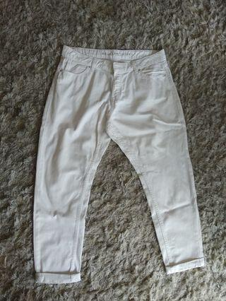Marks and Spencer jeans putih xl