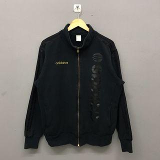 Adidas Spellout Black Zipper Sweater