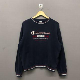 Champion Spellout Blue Sweatshirt