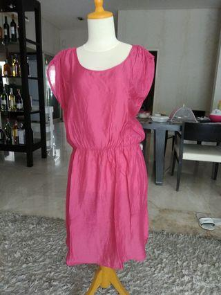 Pink Dress mango xl