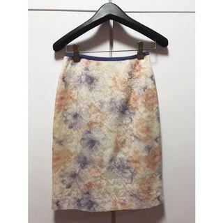 日牌🇯🇵Apuweiser-riche粉彩渲染蕾絲窄裙
