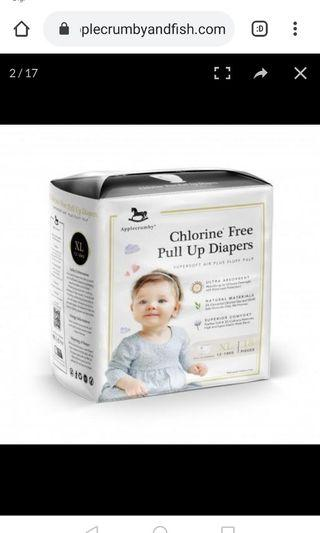Applecrumby XL pull up diapers. Triple pack for RM75!