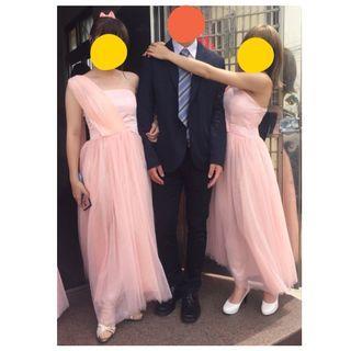 粉色伴娘服/小禮服*2