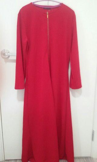 Red Long Cardigan