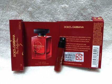 D&G The only one 2 熾我 試管香水~