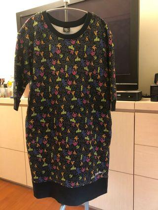 Uniqlo M號七分袖T shirt 洋裝