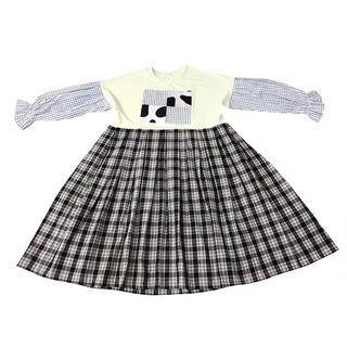 🐷預購  Remake 乳牛拼布燈籠袖格紋洋裝