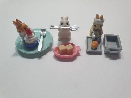 兔子_蛋糕之兔~吃飯之兔~麵包師傅之兔~扭蛋小物_轉蛋_兔系列