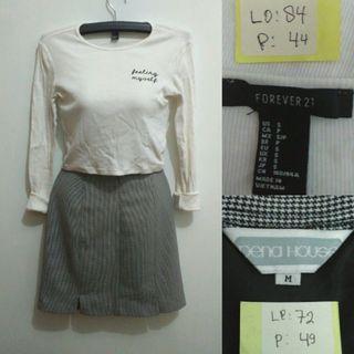 Forever 21 Top & Skirt (mango, zara, h&m)