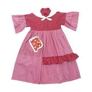 🐷預購   Remake 日系復古拼布蕾絲格紋荷葉洋裝