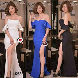Ec dress sexy 1288 l atasan fashion baju dress pesta wanita