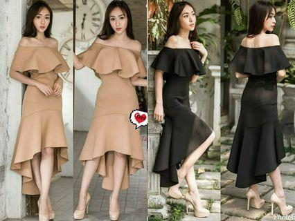 Ec dress fero 1212 l atasan fashion baju dress pesta wanita