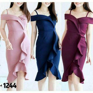 Ec Dress Nita 1244 l atasan fashion baju dress wanita