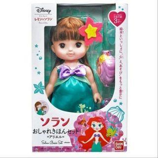 🔥READY STOCK🔥🇲🇾ORIGINAL Bandai Japan Disney Ariel Mermaid Solan Basic Fashionable Toy Doll Set Ideal For Gift🤩💖