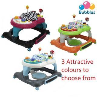 🔥CLEARANCE PROMO🔥BUBBLES 3 In 1 Baby Walker with Jumping Board🧸👶💖