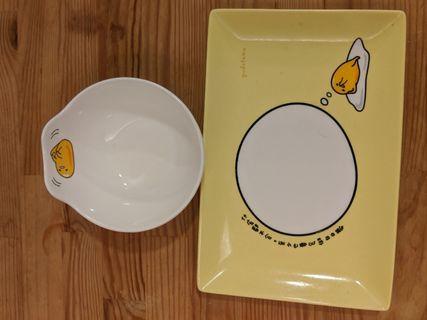 黃蛋哥Gudetama 腕子+盤子