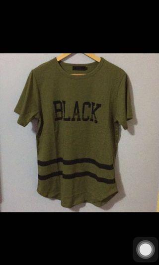 長版T恤上衣 墨綠色 全新