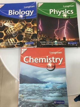 Longman biology, chemistry and physics 11-14