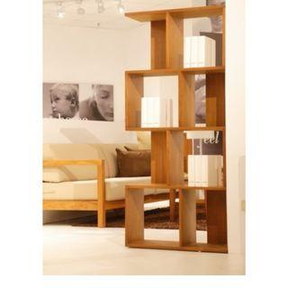 全新詩肯柚木造型書櫃