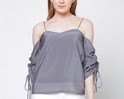 SHEER grey top