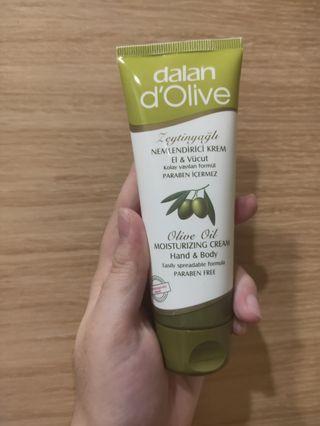 土耳其 dalan 橄欖身體護手滋養修護霜 護手霜