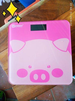 全新粉紅豬 LCD 體重計