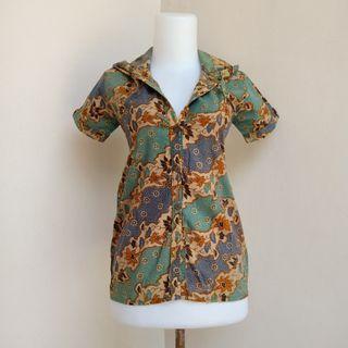 Atasan blouse rompi kemeja batik hoodie