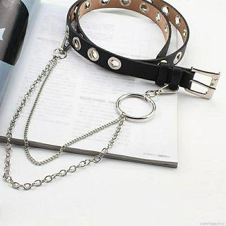 trendy punk belt with chain