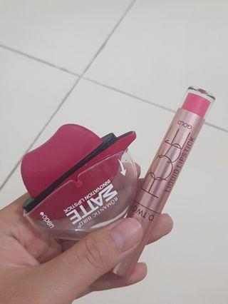 Lipstick Lip cream Pink plum and light paket