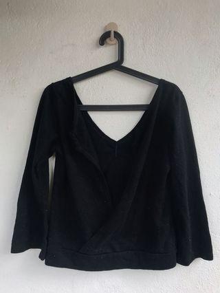 colza Black Top sweatshirt l h&m uniqlo zara